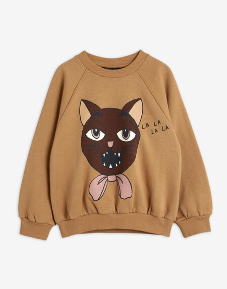 Pulli Kids Cat Choir Beige von Mini Rodini