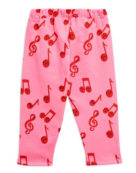 Sweathose Kids Notes Pink von Mini Rodini