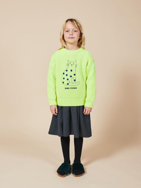 Pulli Kids Cat Neon von Bobo Choses
