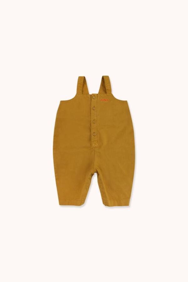 Latzhosen Baby Solid Mustard von Tinycottons