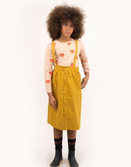 Latzrock Kids Solid Braces Mustard von Tinycottons