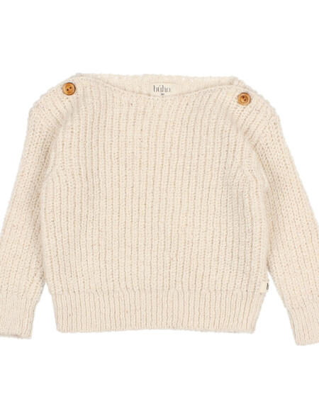 Pullover Baby Jacques Ecru von Buho