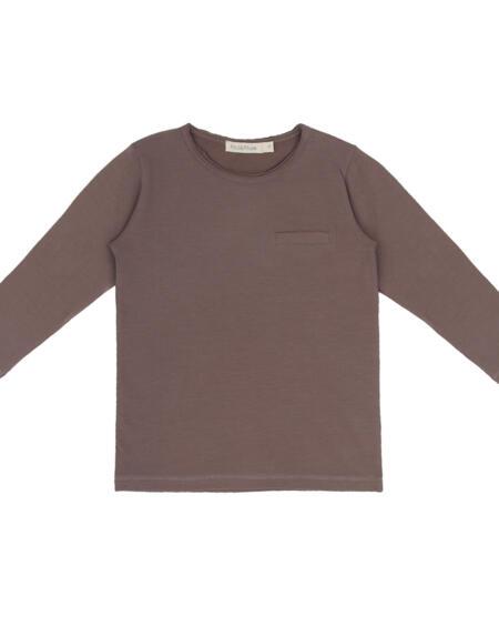 Langarm Shirt Kids Pocket Heather von Phil & Phae