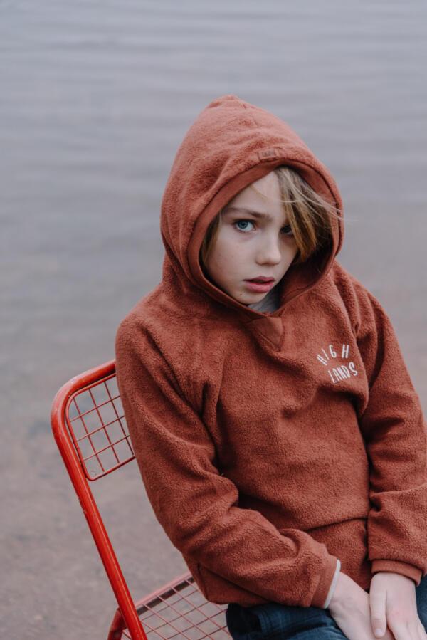 Hoodie Kids Finn Argile von Buho