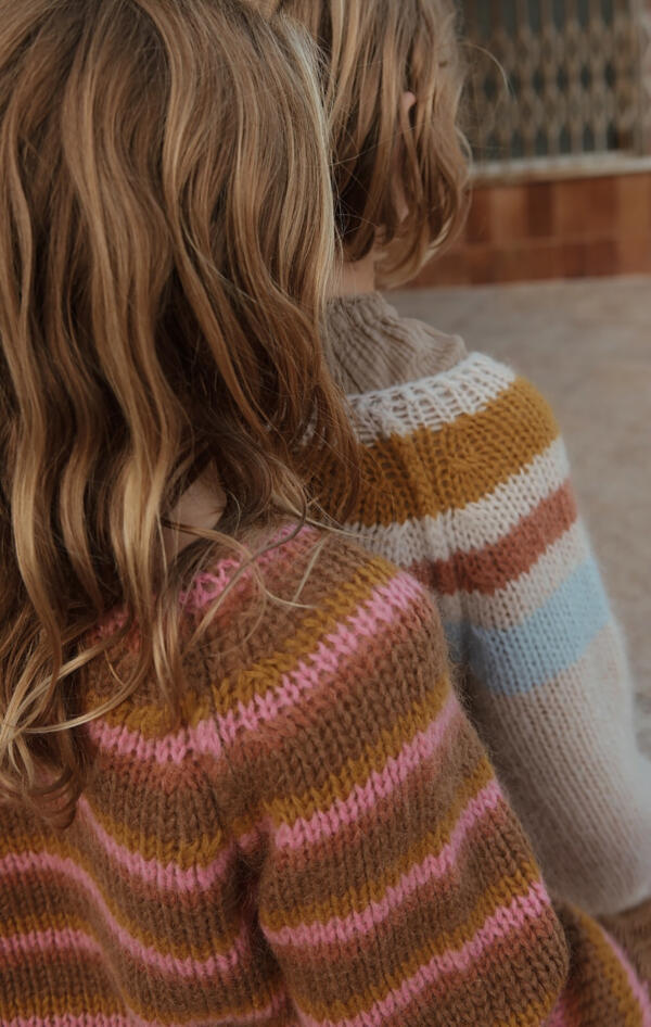 Pulli Kids Striped Copper von Longlivethequeen