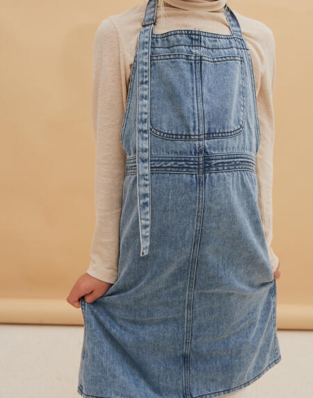Kleid Kids Apron Blue Denim von Longlivethequeen