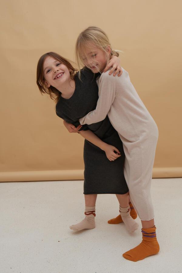 Kleid Kids Charcoal von Longlivethequeen