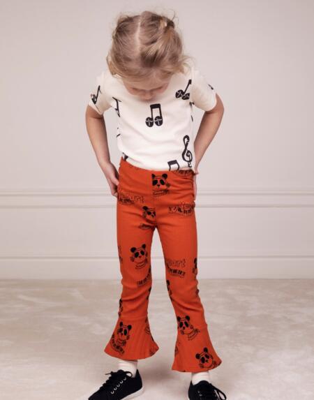 Schlaghose Kids Mozart Rot von Mini Rodini