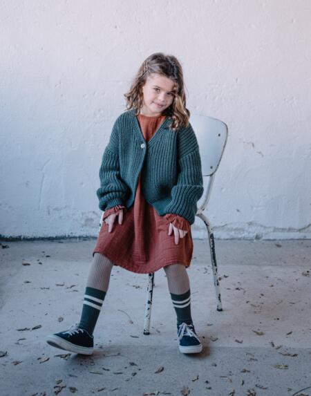 Cardigan Kids Mila Pine Green von Buho