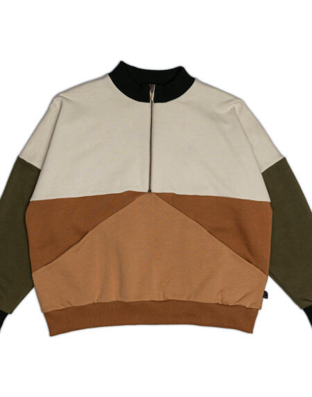 Pullover Adult Earth Zipper von Monkind