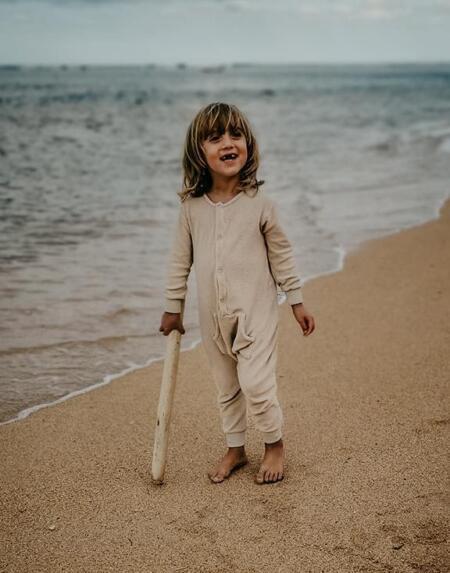 Jumpsuit Baby Terry Ecru von The Simple Folk