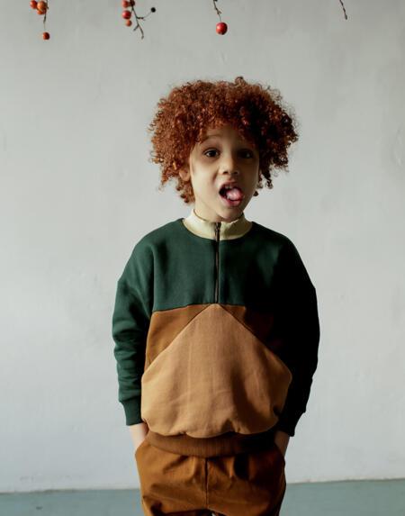 Pullover Kids Pine Forest Zipper von Monkind