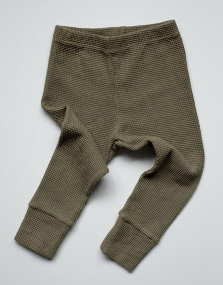 Leggings Baby Waffle Olive von The Simple Folk