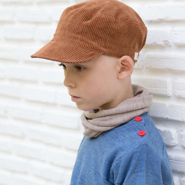 Wende Cap Kids Cord Nussbaum von Wil