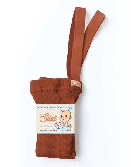 Fusslose Strumpfhose mit Trägern Cinnamon von Silly Silas