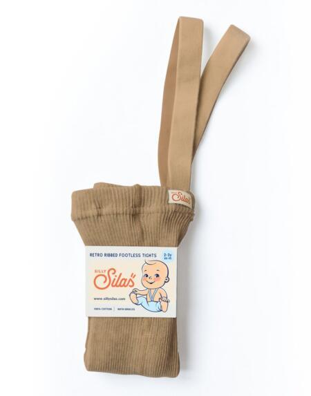 Fusslose Strumpfhose mit Trägern Light Brown von Silly Silas