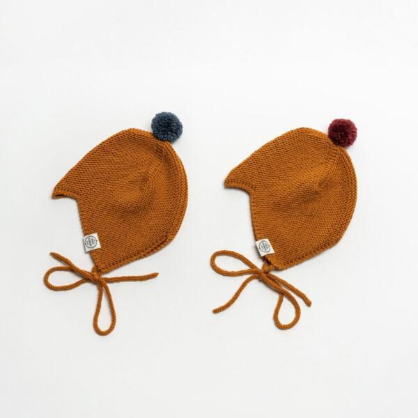 Mütze Baby Asta & August Merino Currygelb von Mini Fabrik