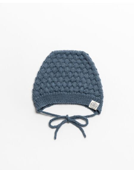 Mütze Baby Nora & Normann  Merino Blau von Mini Fabrik