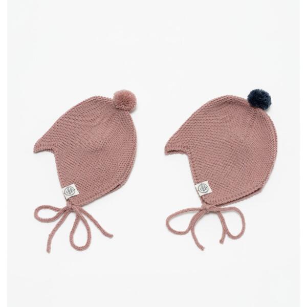 Mütze Baby Asta & August Merino Puder von Mini Fabrik