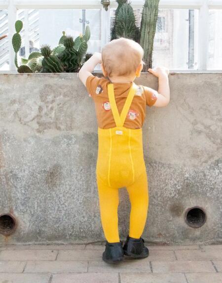 Strumpfhose mit Trägern Sunny Yellow von Silly Silas