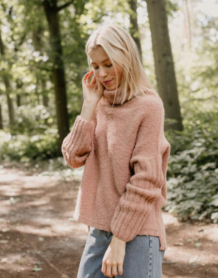 Pullover Sloppy Stevie Blush Camel von LN Knits