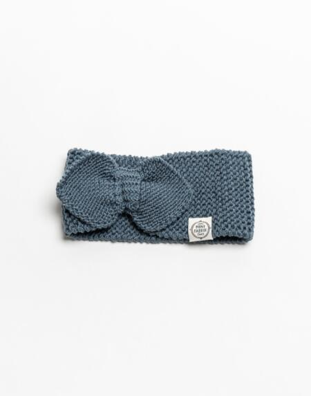 Stirnband Merino Blau von Mini Fabrik