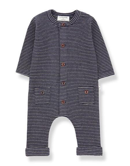 Jumpsuit Baby Hudson Blue Notte/Beige von 1+ in the Family