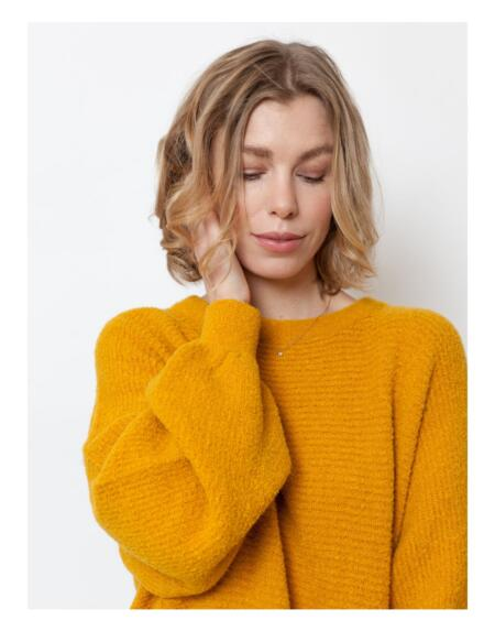 Pullover Basic Billy Inca Yellow von LN Knits
