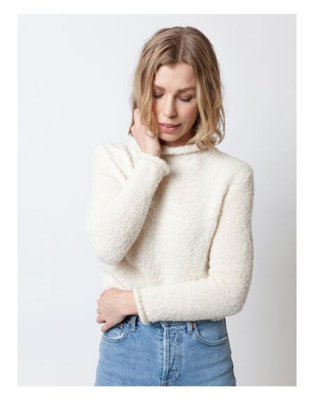 Pullover Fine Filippa Off White von LN Knits