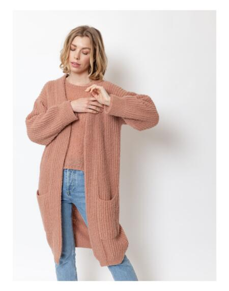 Cardigan Lovely Luttie Blush Camel von LN Knits