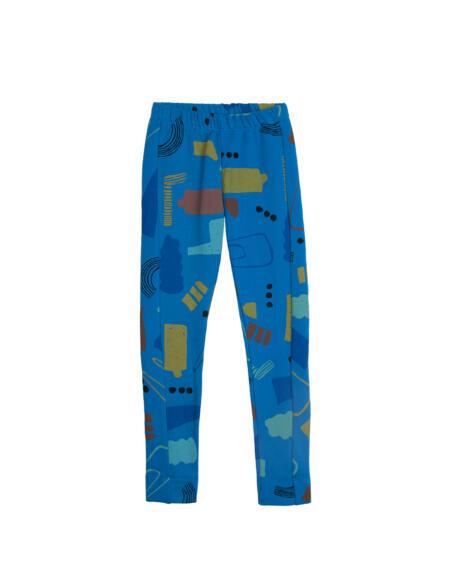 Leggings Kids Printed Blue von Barn of Monkeys