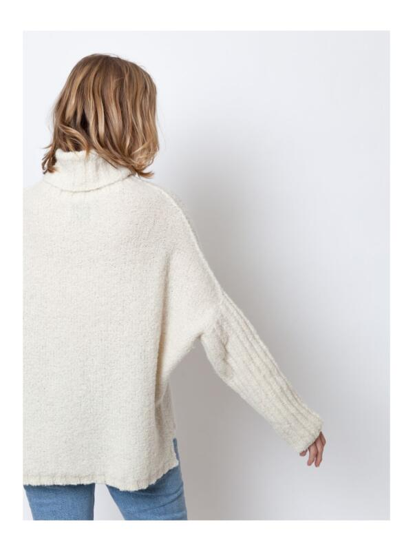 Pullover Sloppy Stevie Off White von LN Knits