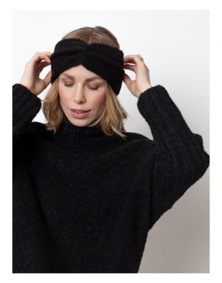 Stirnband Twist Black von LN Knits
