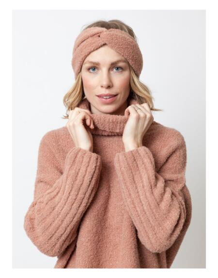 Stirnband Twist Blush Camel von LN Knits