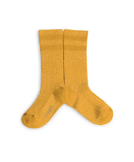 Glitzer Socken Tennis Kids Bouton d'Or von Collégien