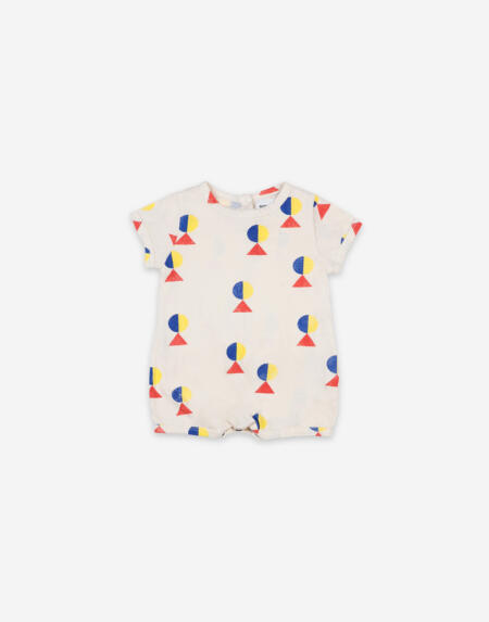 Playsuit Baby Geometric All Over Turtledove von Bobo Choses