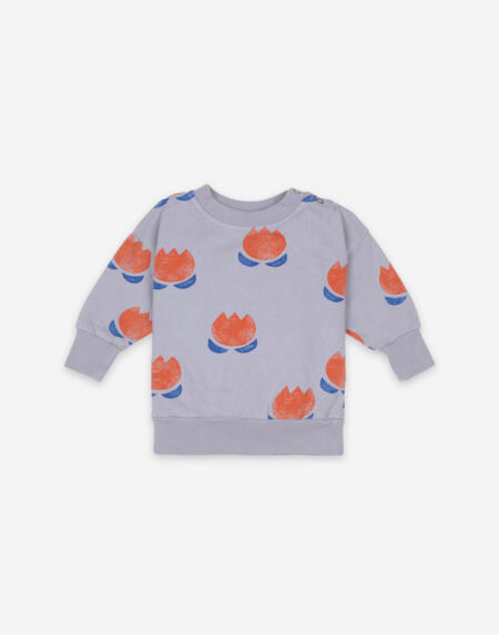 Pullover Baby Chocolate Flower Lavender Aura von Bobo Choses