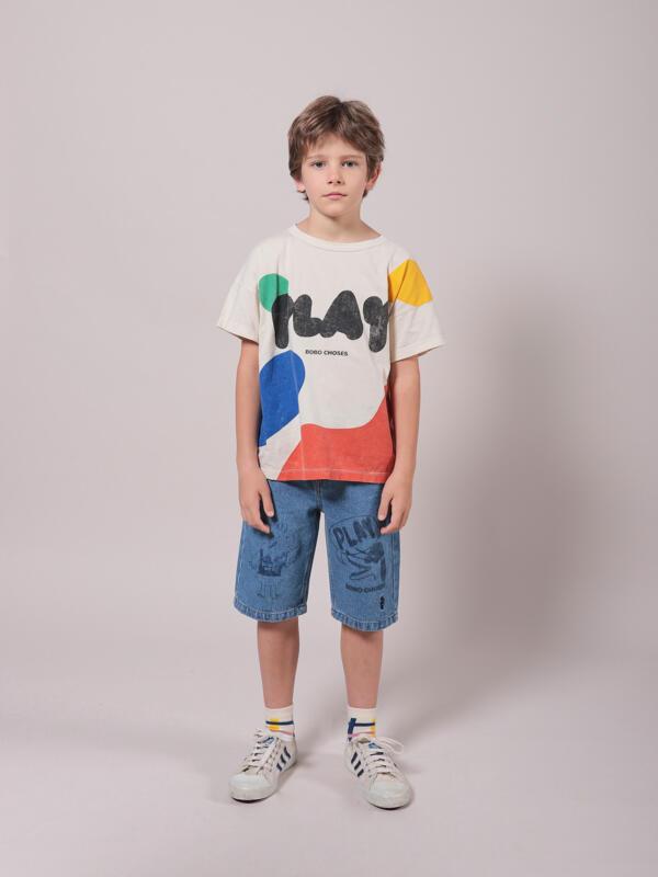 T-Shirt Kids Play Landscape Turtledove von Bobo Choses