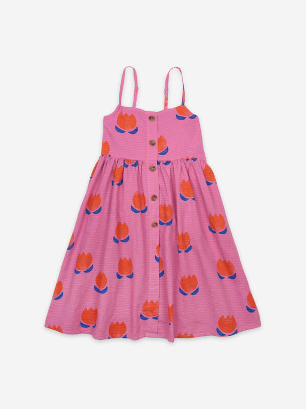 Kleid Kids Chocolate Flowers All Over Dahlia Mauve von Bobo Choses