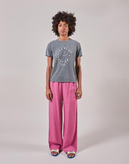 Hosen Adult Tulip Embroidery Straight Leg von Bobo Choses