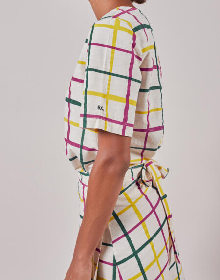 Kurzarm Bluse Adult Multicolour Check von Bobo Choses