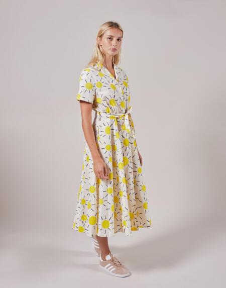 Kleid Adult Sun V-Neck Buttoned Dress von Bobo Choses