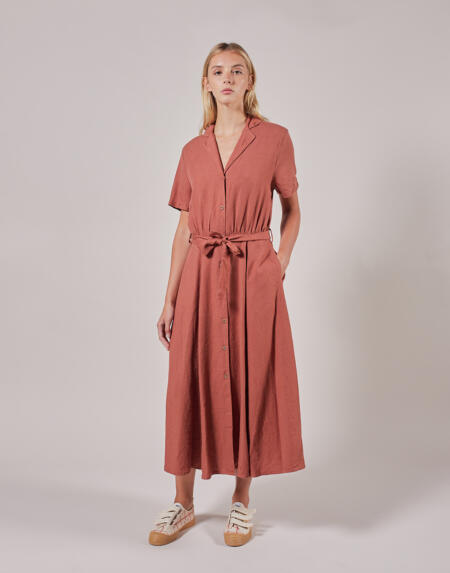 Kleid Adult Plain V-Neck Buttoned Dress von Bobo Choses
