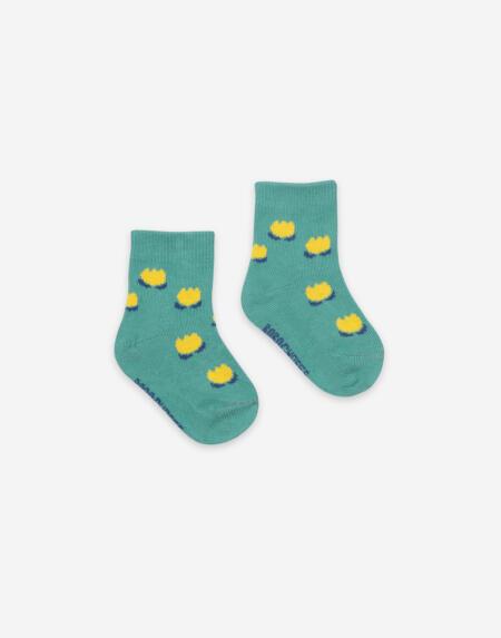 Socken Baby Flowers Green von Bobo Choses