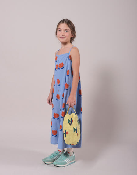 Overall Kids Chocolate Flowers Alle Over Powder Blue von Bobo Choses