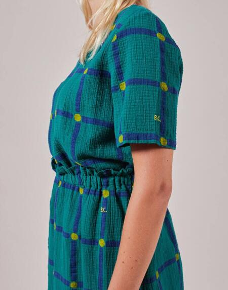 Kurzarm Bluse Adult Check Printed von Bobo Choses