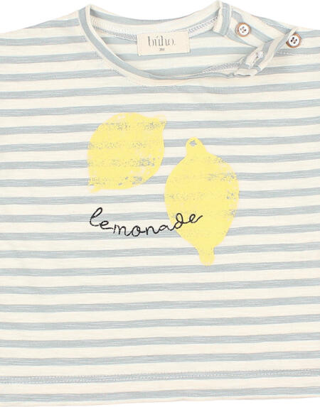 T-Shirt Baby Stripes Cloud von Buho