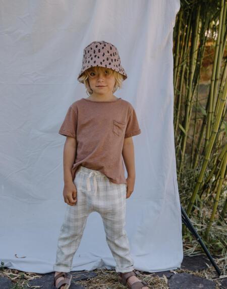 T-Shirt Kids Cotton Linen Cocoa von Buho