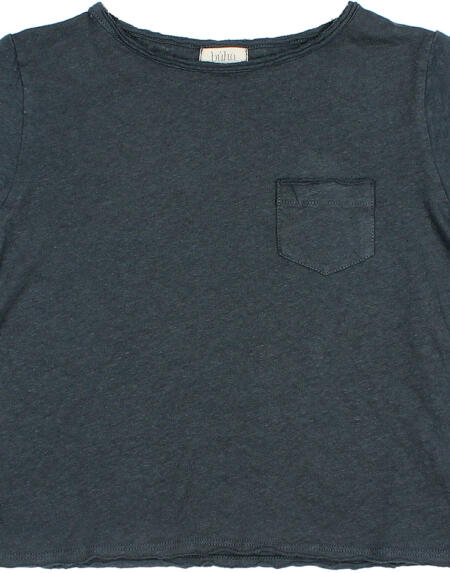 T-Shirt Kids Cotton Linen Blue Night von Buho