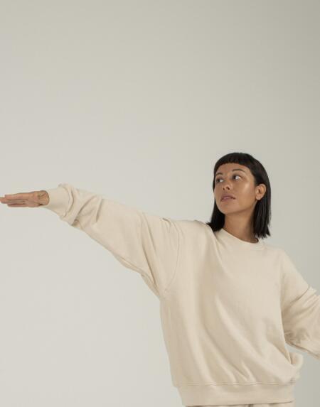 Lounge Sweater Aurelie in Crème von Indigo Luna
